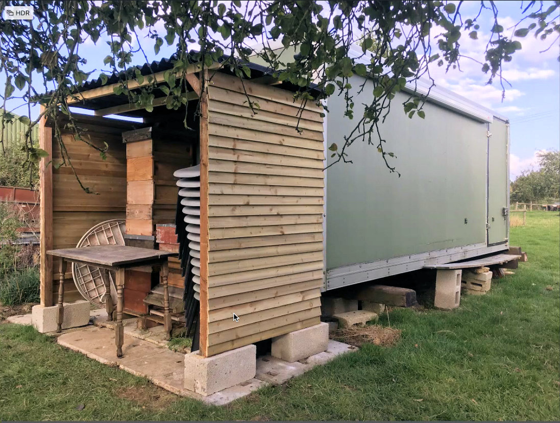 Extension to the Training Apiary Bee Shed