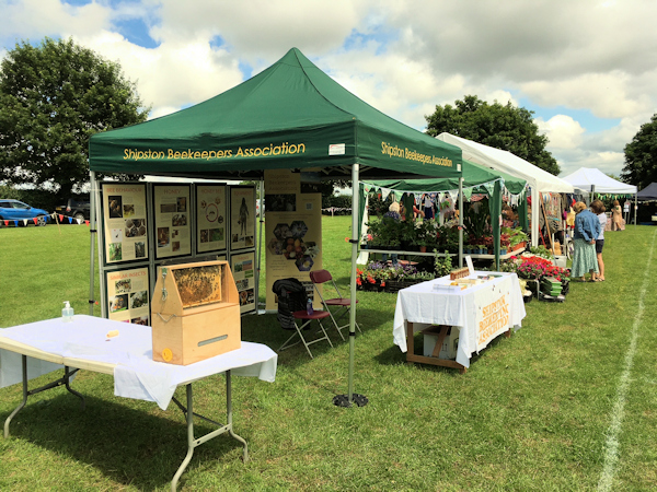 Shipston Beekeepers stand at the North Newington Village Fete July 2021 (c) Mike Cherry